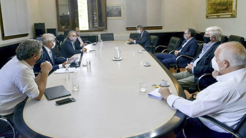 Reunión en el Ministerio de Agricultura.