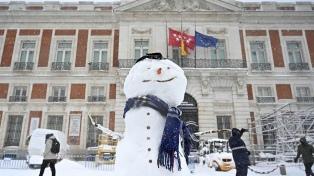 La histórica nevada en fotos