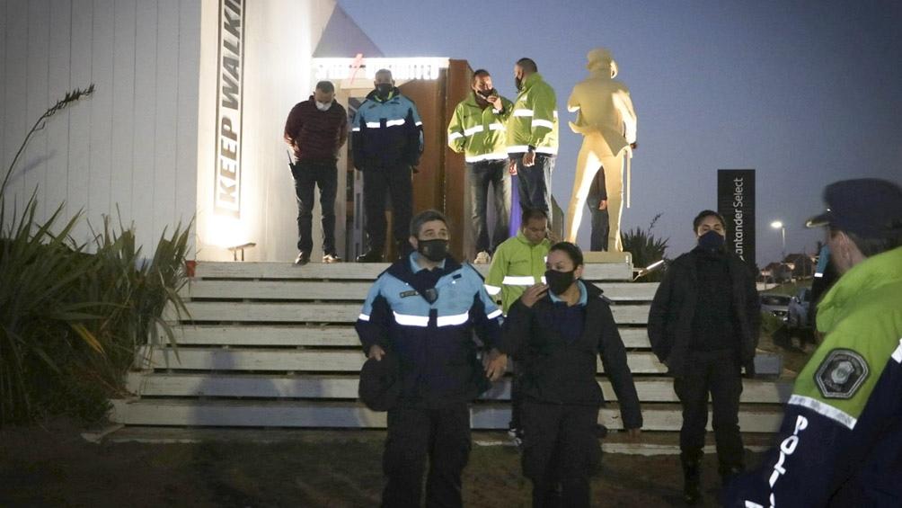 En la clausura hubo detenciones por resistencia a la autoridad