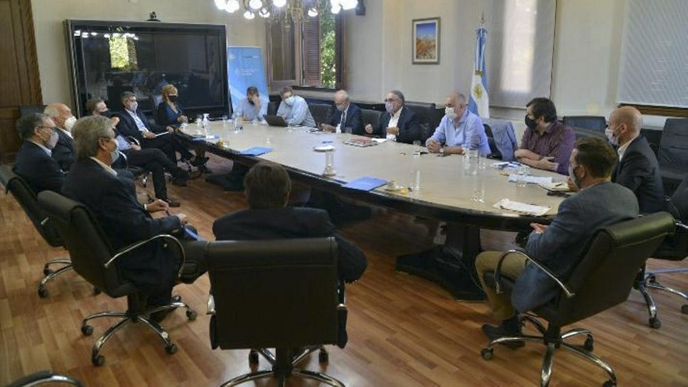 Reunión del funcionarios nacionales con el Consejo Agroindustrial Argentino.