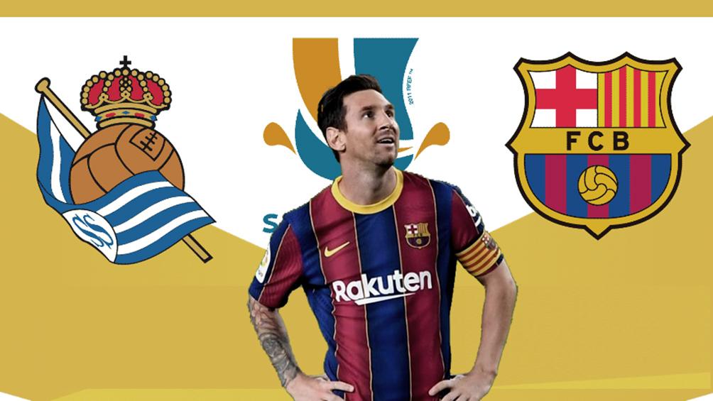 Barcelona, con Messi, enfrenta a Real Sociedad en la semifinal de la Supercopa