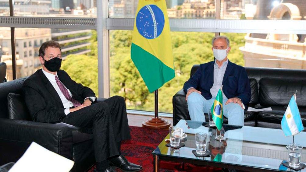 El secretario de Relaciones  Económicas Internacionales recibió al nuevo embajador de Brasil.