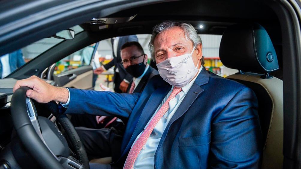 """""""Me alegra que Volkswagen siga apostando a la Argentina"""", afirmó el mandatario."""