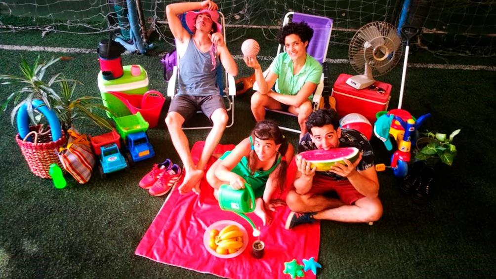El circo de picnic, en verano, en Belgrano