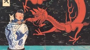 Se subastó una portada de Hergé rechazada por los editores de Tintín y logró un récord