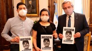 Alberto Fernández recibió a los padres de Fernando Báez Sosa