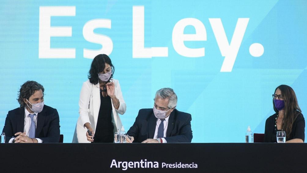 La ley de Interrupción Voluntaria del Embarazo fue promulgada el jueves pasado por el presidente Alberto Fernández.