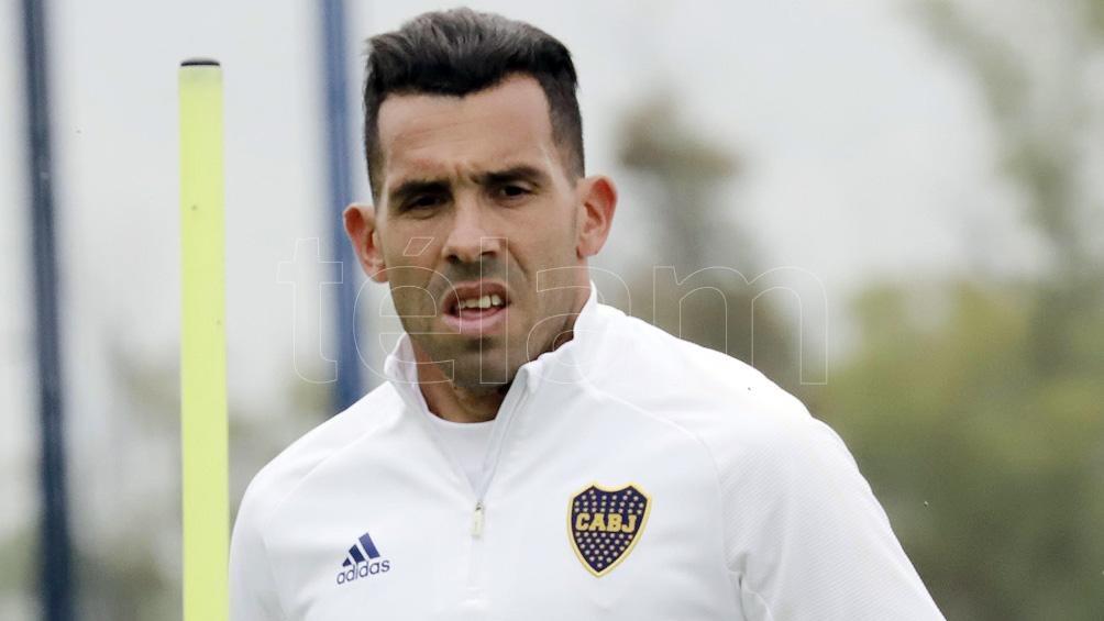 Tevez, ausente de la práctica, sería titular ante Sarmiento