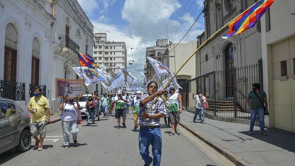 La marcha fue hasta la Casa de Gobierno provincial.