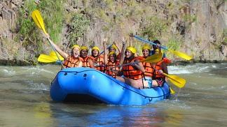El rafting, un clásico de la región.