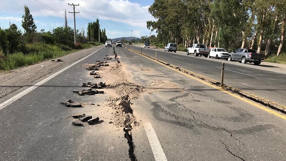 El fuerte sismo se registró en la localidad sanjuanina de Villa Media Agua.