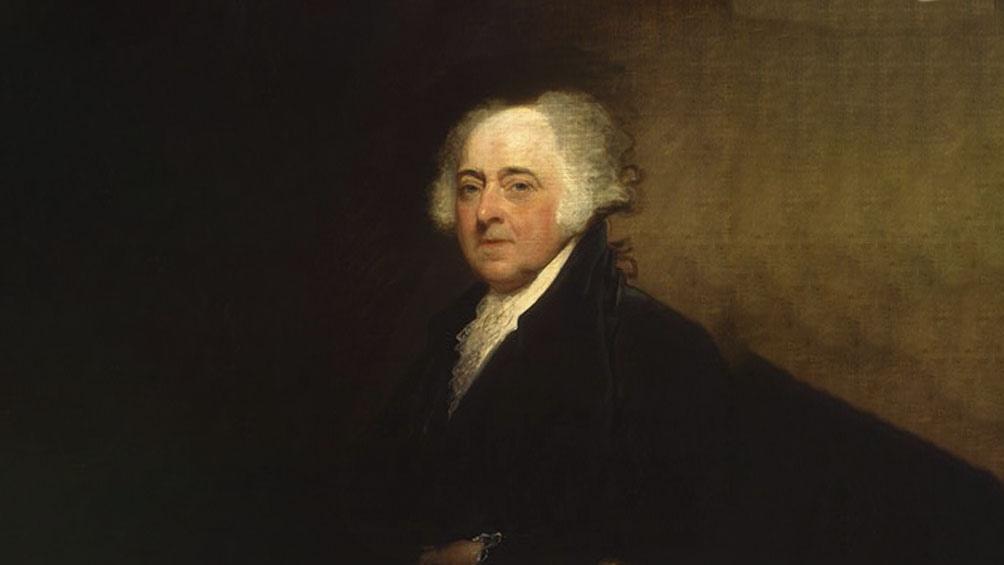 جان آدامز ، یکی از کسانی که حاضر به عبور از راه با وارث خود نیست.
