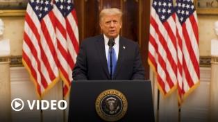 """Trump se despide sin críticas y apunta a su legado: """"El movimiento que creamos apenas comienza"""""""