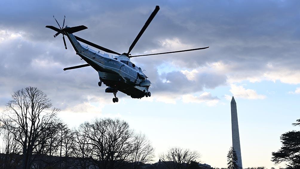 El presidente saliente de Estados Unidos, Donald Trump, dejó este miércoles por última vez la Casa Blanca