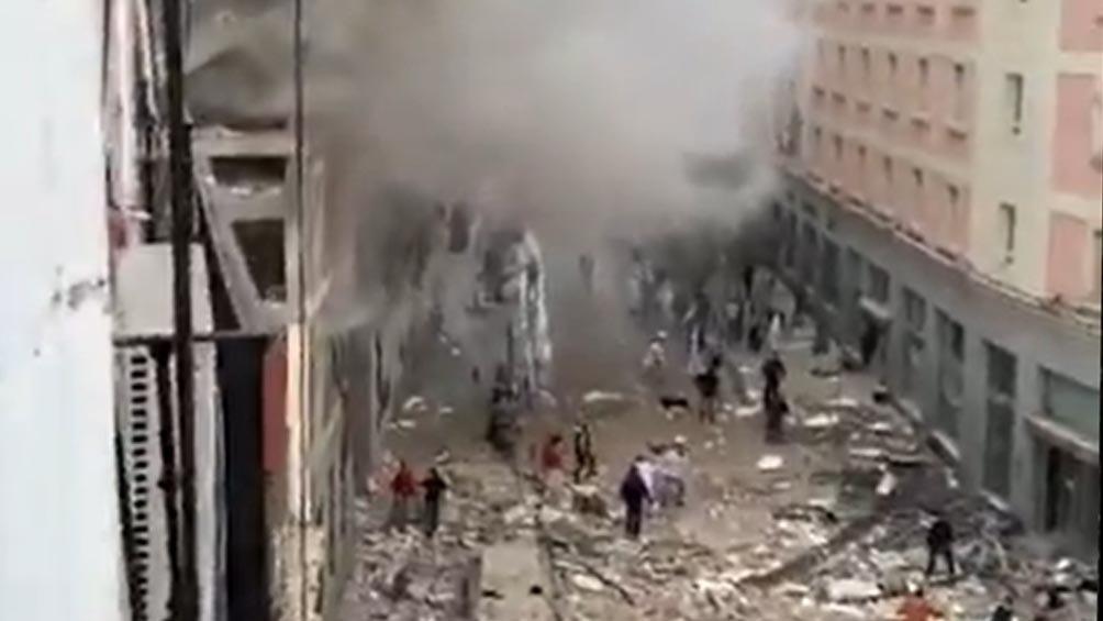Una explosión se registró en un edificio de centro de Madrid