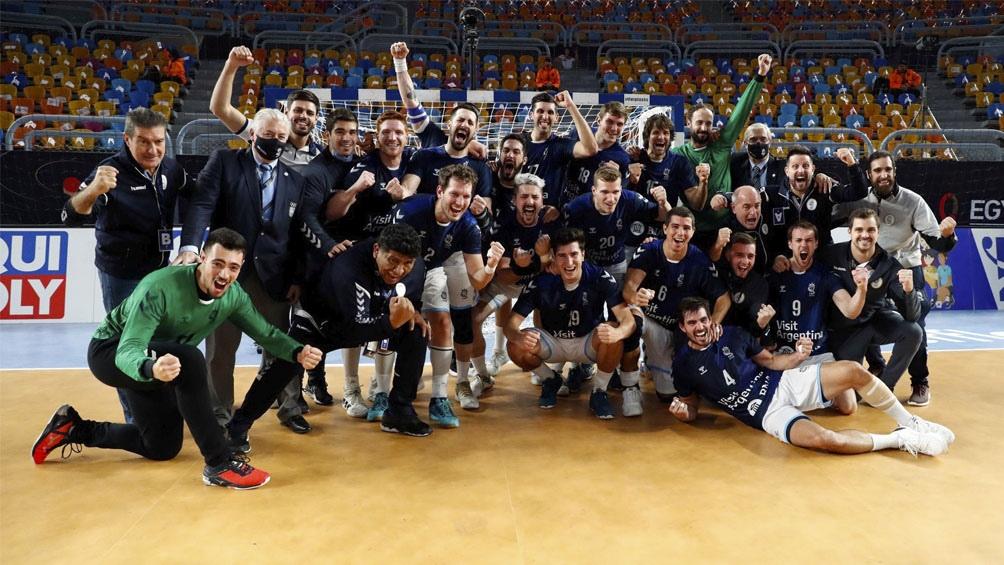 El festejo ante Croacia, el subcampeón de Europa.