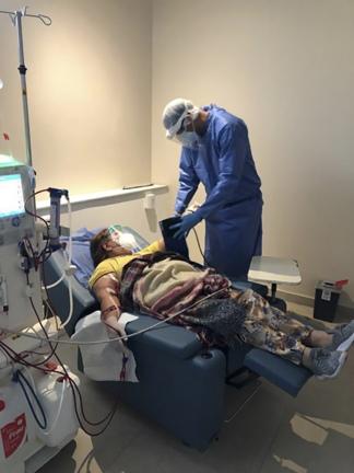Según los datos de SAN, entre un 15 y 20% de pacientes en diálisis contrajeron la Covid-19.