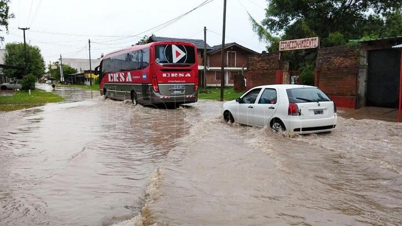 Intensas lluvias provocan anegamientos en localidades del norte