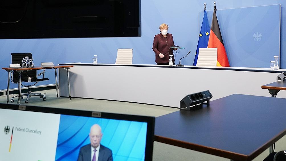 Merkel habló de los retrasos en la entrega de vacunas.