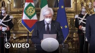 Con la renuncia de Conte, el presidente Mattarella toma las riendas de la crisis política italiana