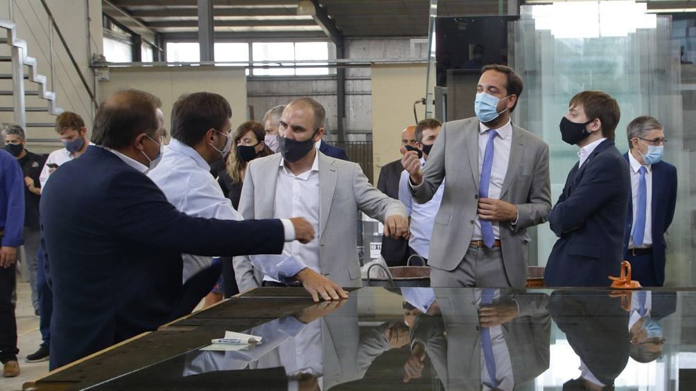 El Ministro de Economía visitó dos empresas radicadas en el Parque Industrial de Santa Rosa.