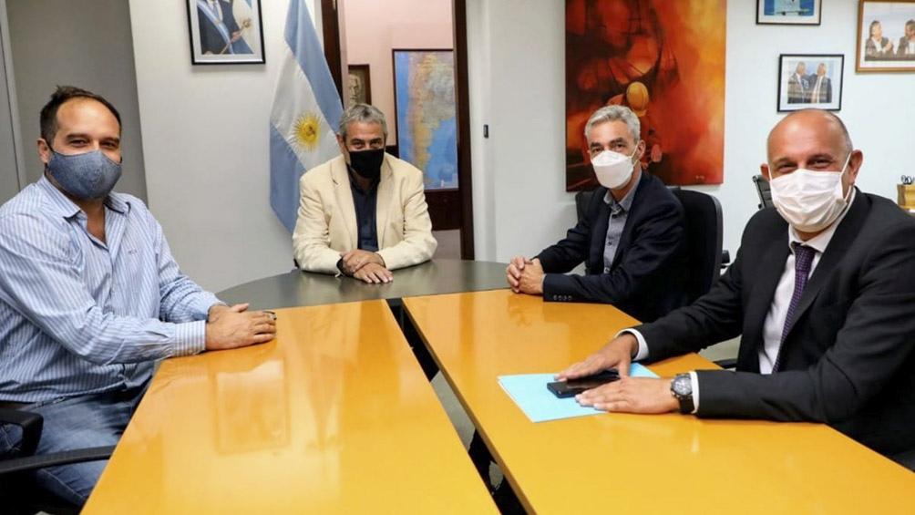 Secretario de Hábitat, Santiago Maggiotti, y el presidente de Trenes Argentinos Infraestructura, Alexis Guerrera.