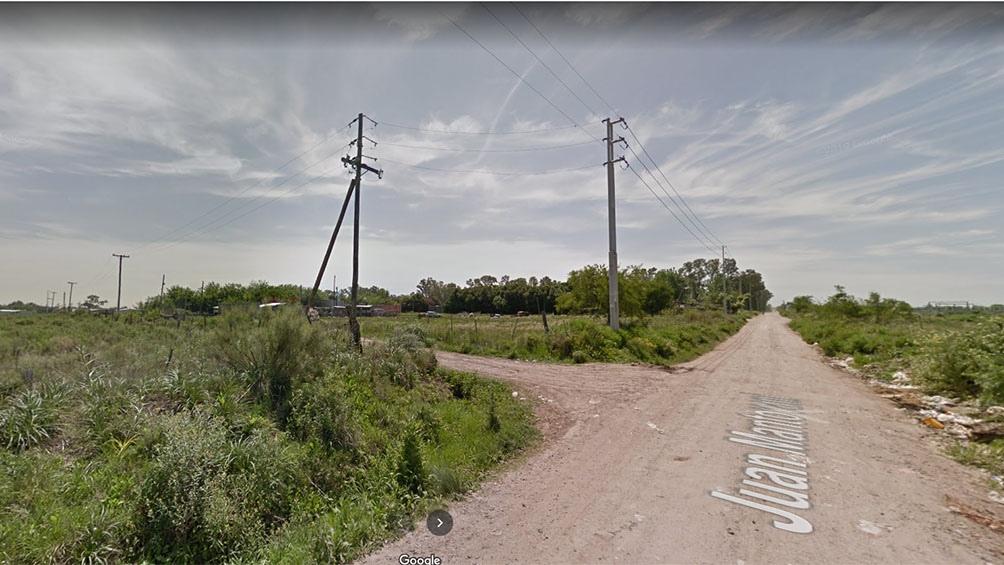 El hecho ocurrió en una zona descampada ubicada en la calle Juan Montovani y 1433
