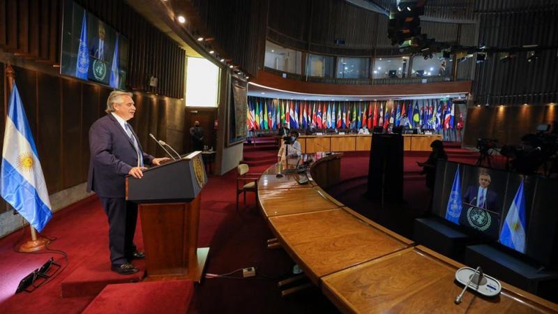 """Fernández reclamó """"unidad regional"""" y afirmó que el """"multilateralismo es el único camino"""""""