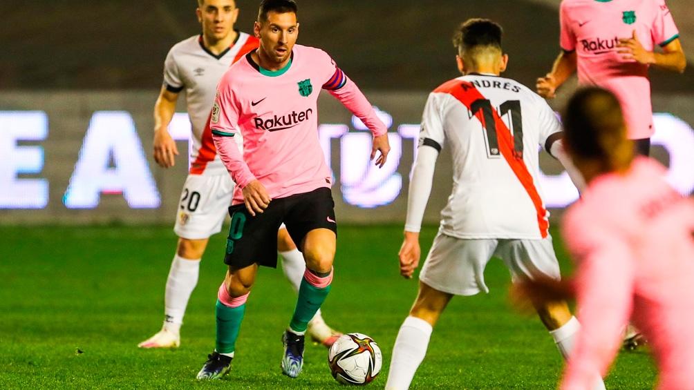 Barcelona, con gol de Messi, luchó para vencer al Rayo Vallecano (Foto: @FCBarcelona_es)