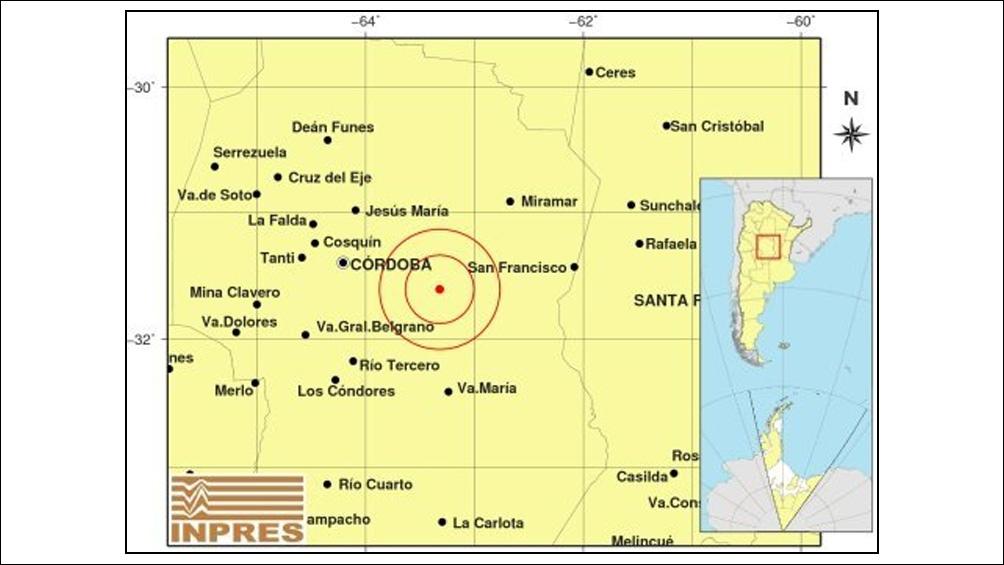 El temblor alcanzó 4,3 grados de magnitud de la escala Richter con una profundidad de 23 kilómetros.