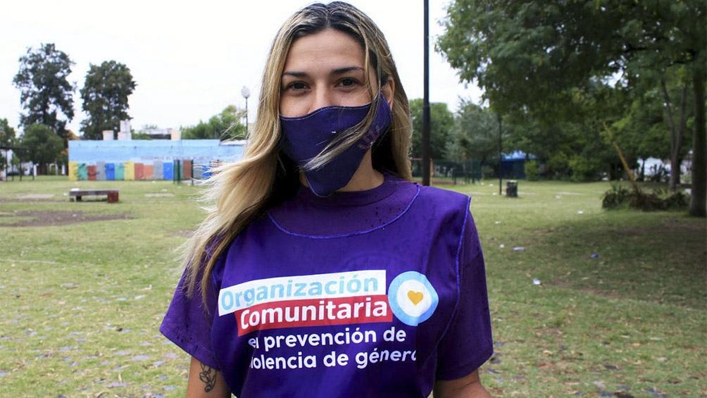"""Esta acción se realiza bajo el lema """"Organización Comunitaria para la Reconstrucción argentina""""."""