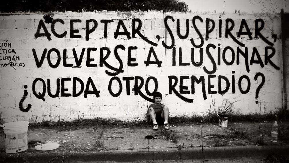 Poesía en las paredes.
