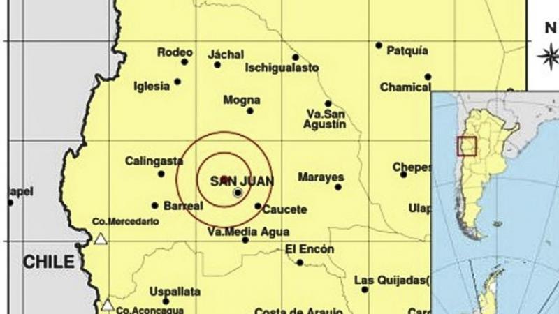 Un sismo con epicentro en San Juan fue percibido también en Mendoza