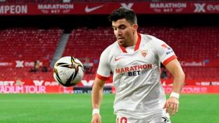 """Acuña sufrió """"una lesión seria y estará fuera un tiempo"""", confirmó el DT del Sevilla"""
