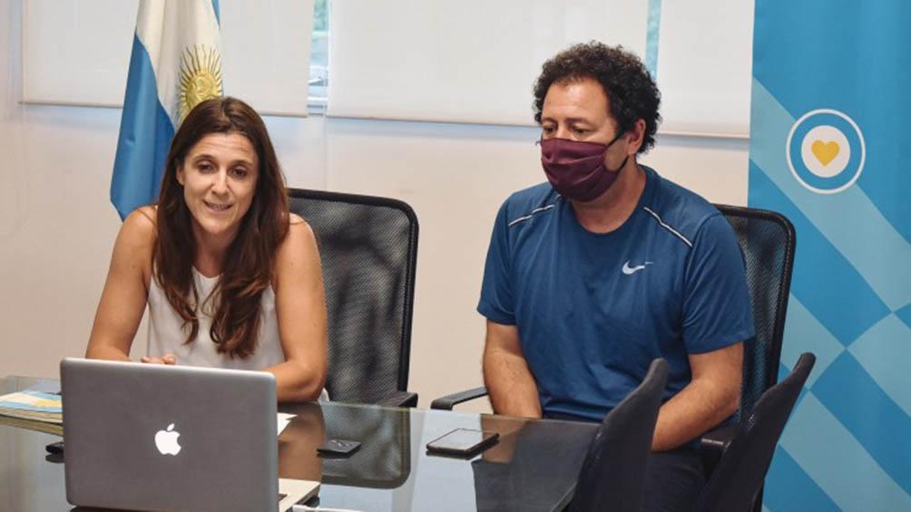 La secretaria de Deportes de la Nación, Inés Arrondo y el presidente de la FeVA, Juan Galeote realizaron el anuncio.