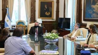 El Presidente se reunió con representantes de la cooperativa cordobesa de servicios Coopi