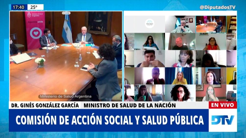 En la presentación ante diputados del miércoles pasado, González García también se refirió a la situación con Pfizer.
