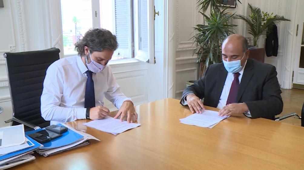 EL gobernador de Tucumán se reunió con Santiago Cafiero en la Casa Rosada