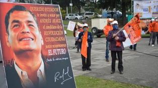 """Correa dijo que su corriente ganó las elecciones """"en forma abrumadora"""""""