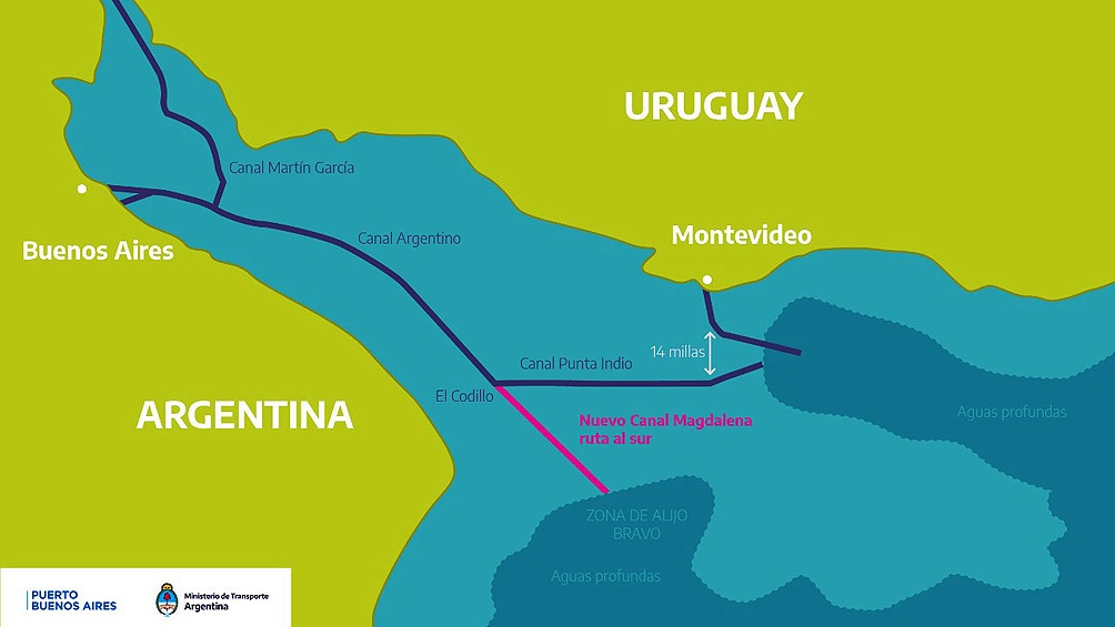 La traza prevista consistirá en un canal rectilíneo a desarrollarse entre la zona El Codillo y el área de Zona Beta.