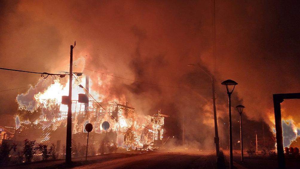 Un total de 10 edificios públicos fueron totalmente destruidos