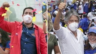 Arauz y Lasso cerraron sus campañas con la mira en el balotaje del domingo