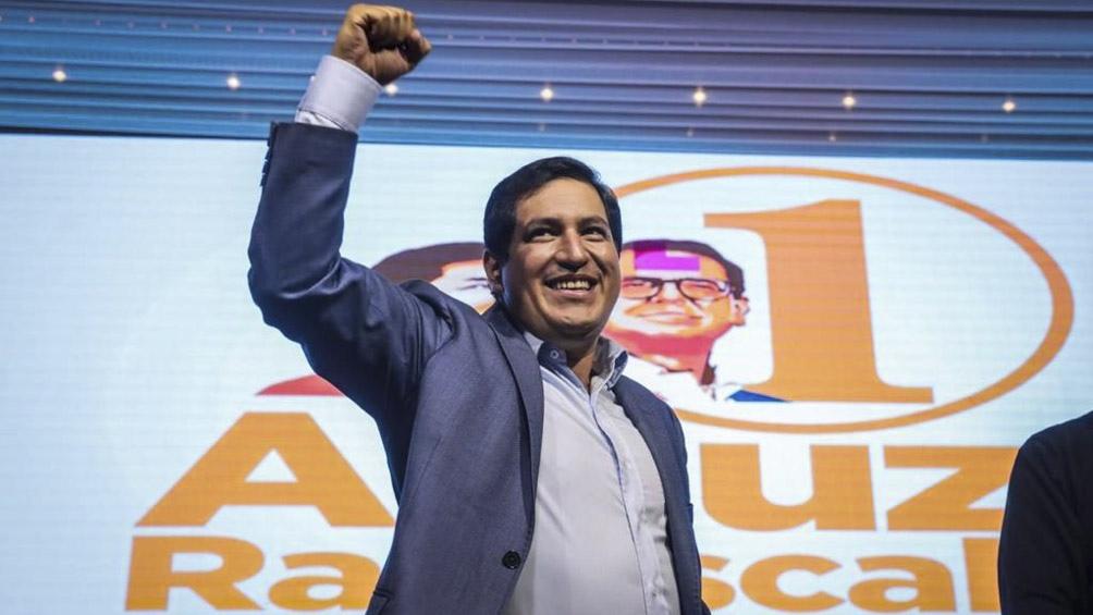 """El ganador de la primera vuelta, Andrés Arauz definió al proyecto de Moreno como una """"una privatización""""."""