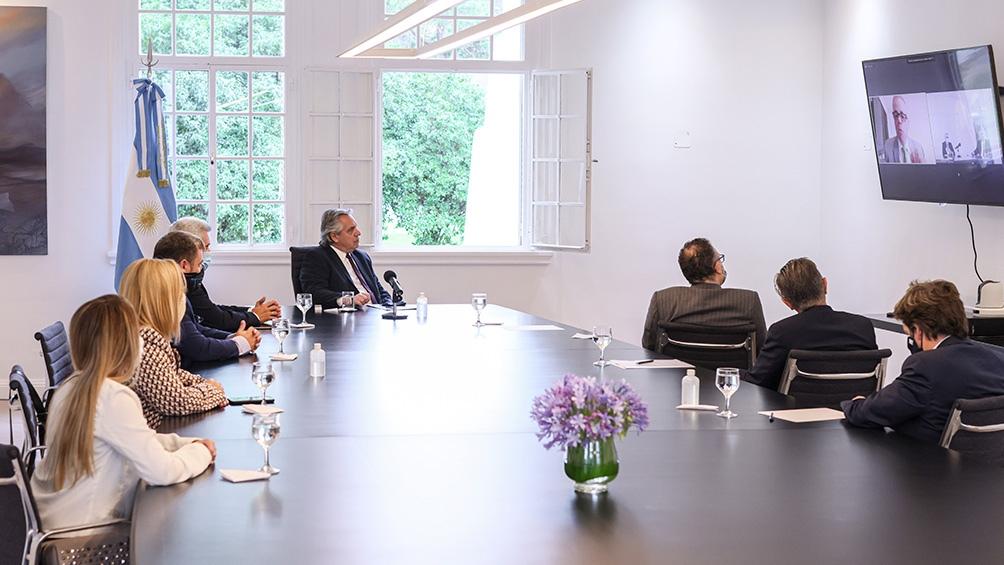 El presidente mantuvo una videoconferencia con ejecutivos de Whirlpool