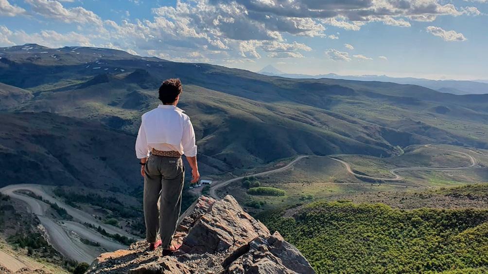 Uno de los paisajes que fascinó al jinete y que comparte en su cuenta de Instagram.