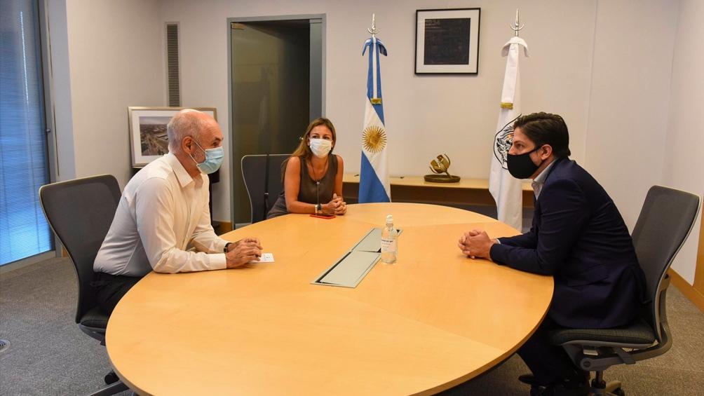 La reunión se llevó a cabo en la sede del Gobierno porteño.
