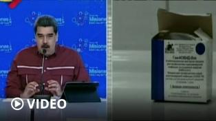 Maduro anunció que la semana próxima llegarán a Venezuela las primeras 100.000 vacunas