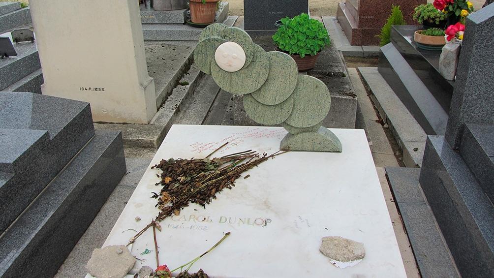 La tumba de Cortázar en el cementerio de Montparnasse en París.