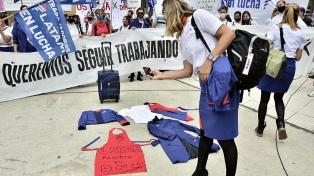 Distintas protestas confluyen en la zona del Obelisco