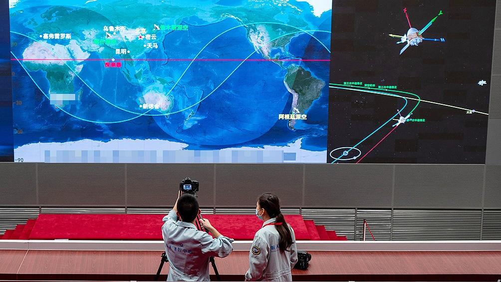 La sonda china está integrada por tres elementos: un orbitador, un módulo de descenso y un robot teleguiado.